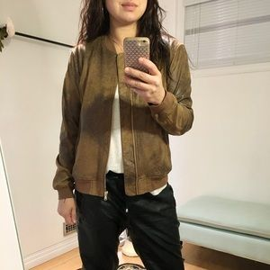 Dex Clothing Faux Suede Bomber